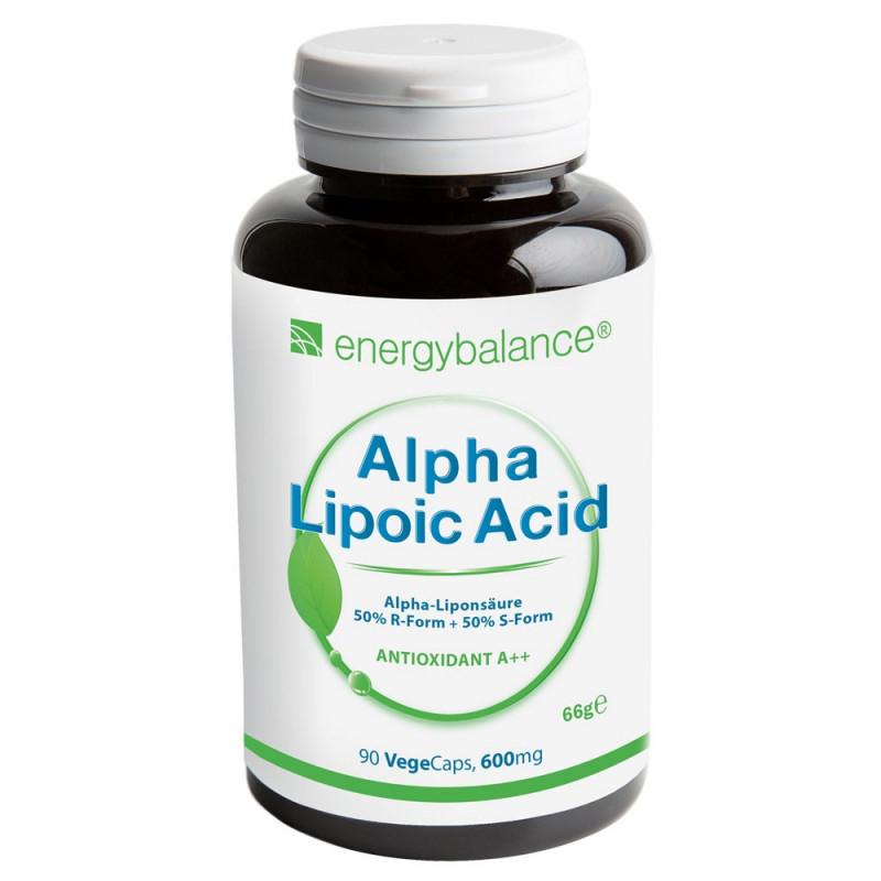 Alpha-Lipoic Acid 600mg, 90 VegeCaps EnergyBalance® - 1