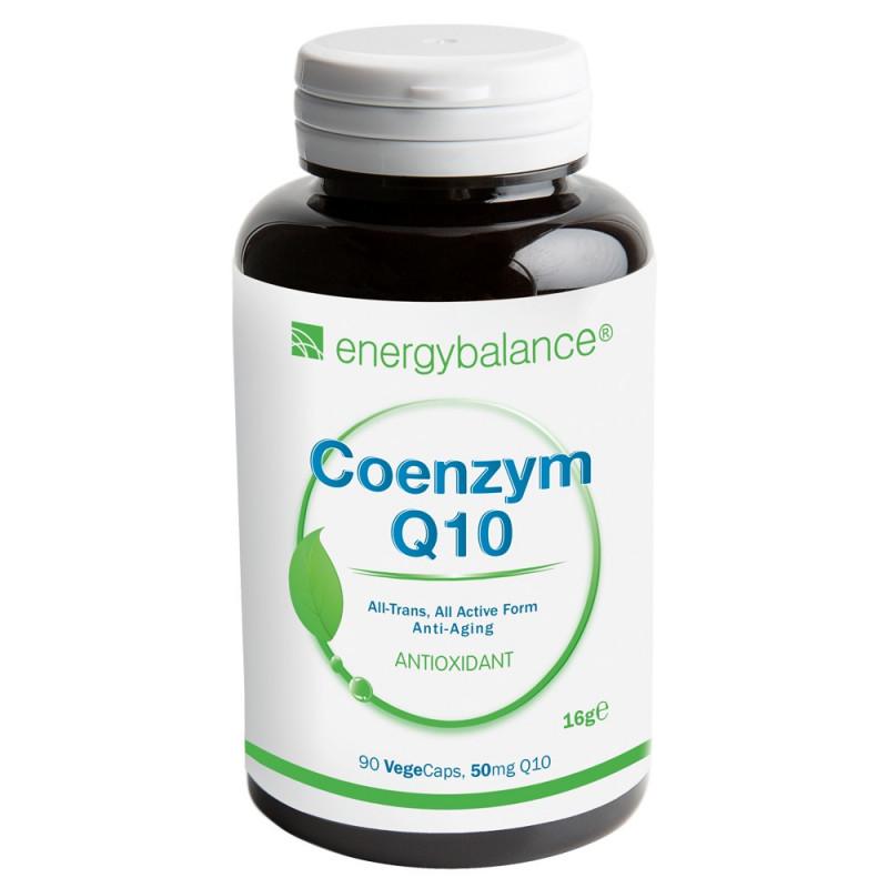 Q10 Coenzyme antioxidant 50mg, 90 VegeCaps EnergyBalance® - 1