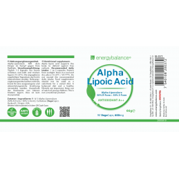 Alpha-Lipoic Acid 600mg, 90 VegeCaps EnergyBalance® - 2